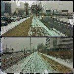 Scieżka rowerowa zimą