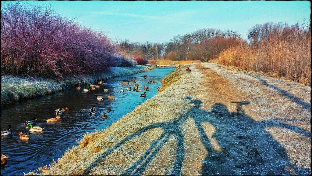 Wiosna zimą na rowerze