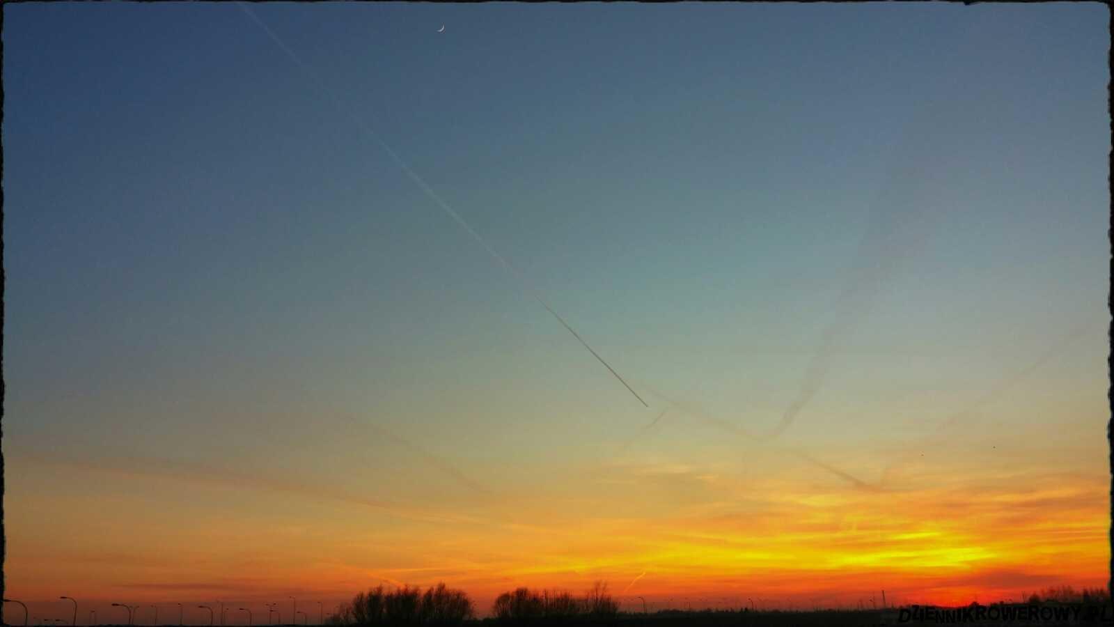 Zachód słońca rowerem