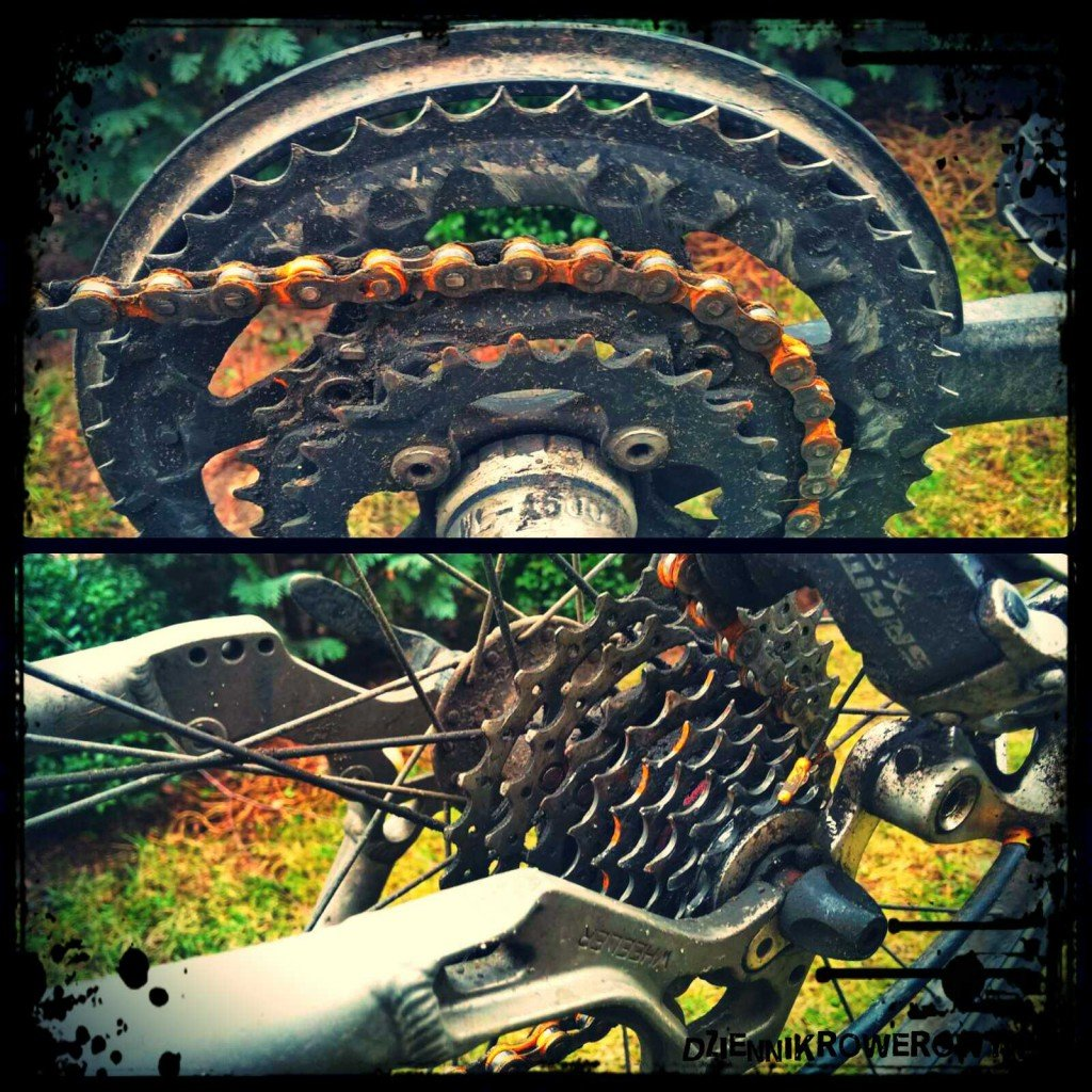 Rower- zużyte kaseta i blat