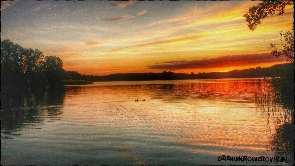 Iława- zachód słońca